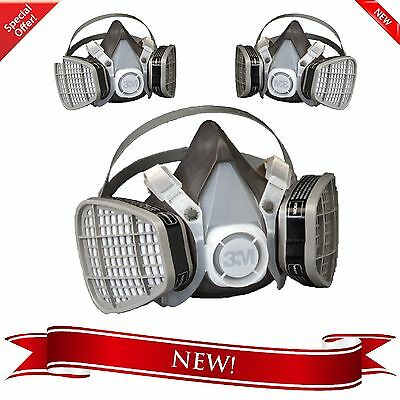 3M Dust Paint Mask Half Facepiece Respirator Assembly Respiratory Protection New
