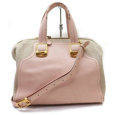 Authentic Fendi Hand Bag  Pinks Leather 1130759