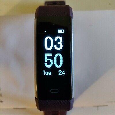 Lintelek ID115Plus Fitness Tracker - Purple - Treadmill Jog Dance Yoga