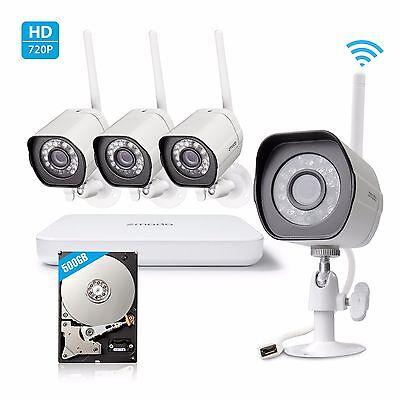 Zmodo 1080p HDMI 4CH NVR System with (4) 1.0 Megapixel Wireless Cameras 500GB