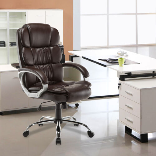 PU Leather High Back Office Chair Executive Task Ergonomic C