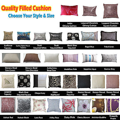 *** CLEARANCE SALE *** Quality Filled Cushion - choose, Fabric, Square or Oblong ()
