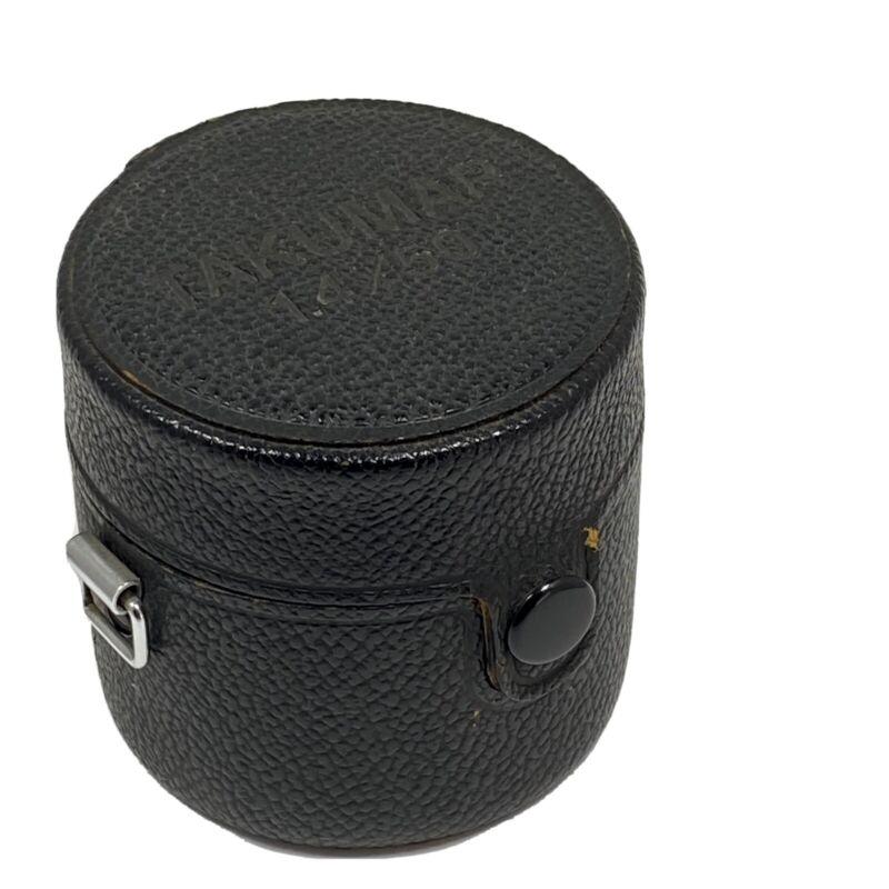 Takumar 1.4 50mm Lens Case Excellent Condition.