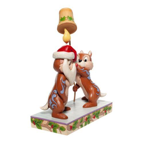 Jim Shore Disney Traditions SNUFF SAID Christmas Chip n Dale 6007070 New in Box