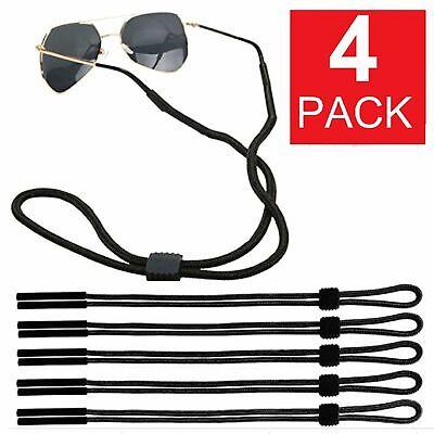 4-Pack Adjustable Sunglasses Neck Cord Strap Eyeglass Glasses Lanyard Holder Eyeglass Straps, Cords & Grips