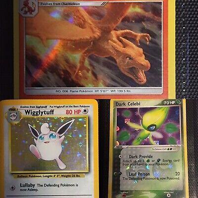 WTC pokemon cards binder lot vintage-modern charizard,Celebi,charmander,raichu