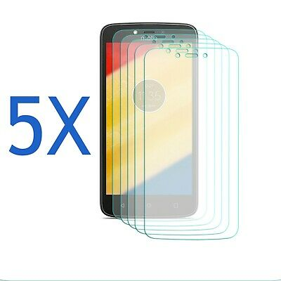 5 Pack - Screen Protector For motorola Moto C plus - Clear Film Guard Ultra Thin