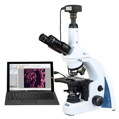 Omax 40x-3000x 18mp Usb3 Quintuple Infinity Plan Darkfield Led Kohler Microscope