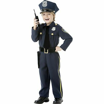Halloween Costume Police Officer (Boys Police Officer Halloween Costume Size 3-4T Hat Belt Holster Walkie)