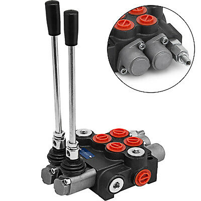 2 Spool Hydraulic Monoblock Double Acting Control Valve 11 Gpm Sae Ports