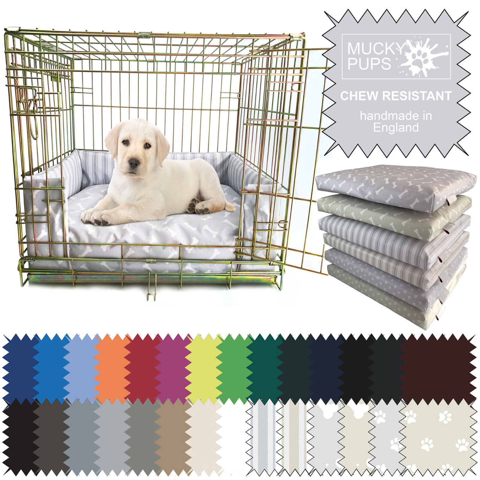 Dog Bed Chew Resistant Waterproof Puppy crate Pad/ Cushion/