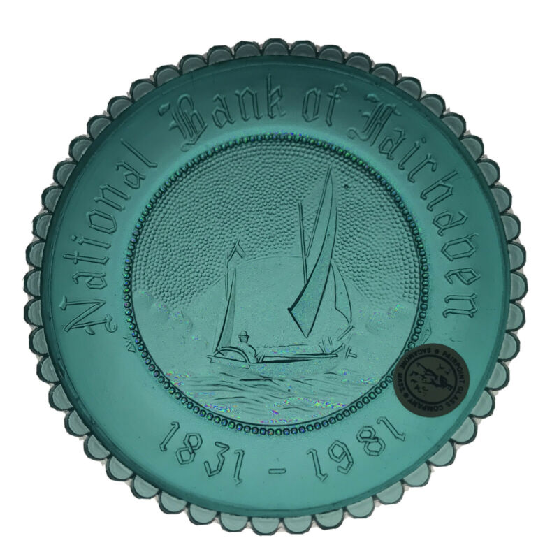 Joshua Slocum Sailing Sloop Spray Nautical Fairhaven Pairpoint Glass Cup Plate