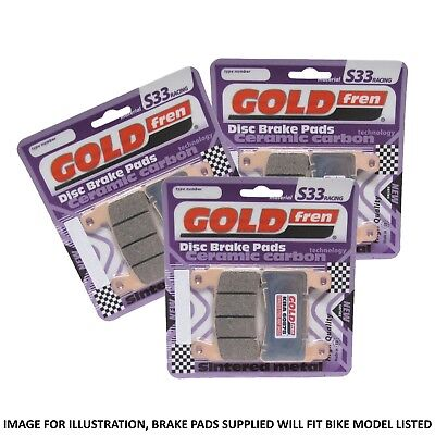 Victory Cross Country Tour 2017 Goldfren S33 Full Brake Pad Set