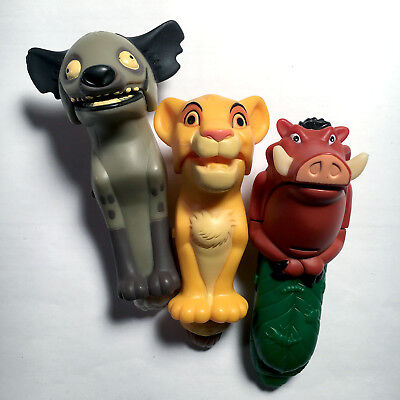 3 Walt Disney Lion King McDonald's Happy Meal Action Figure Finger Puppets Rare ()