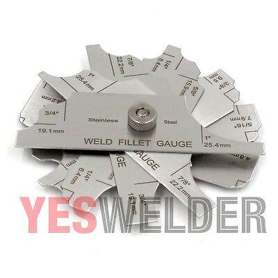 Mg-11 7-pcs Welding Fillet Gauge Inmm Weld Inspection Yeswelder