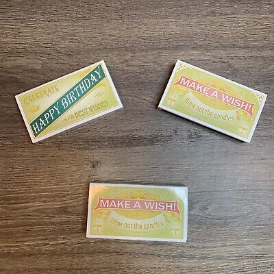 HomArt - Match Box Lot of 3 - Happy Birthday