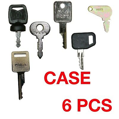 Case Bobcat Heavy Equipment Construction Ignition Master Key Set 6 Keys