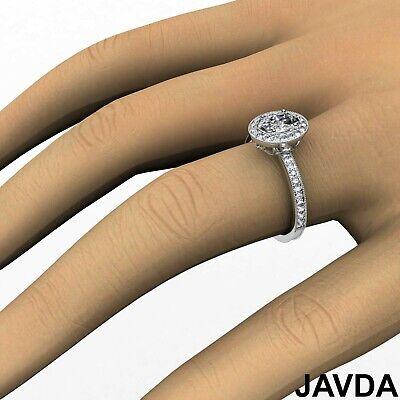 Bezel Set Milgrain Edge Halo Oval Diamond Engagement GIA F VS1 Clarity Ring 1Ct 5