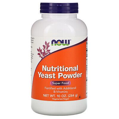Now Foods Nutritional Yeast Powder 10 oz 284 g GMP Quality Assured, Kosher,
