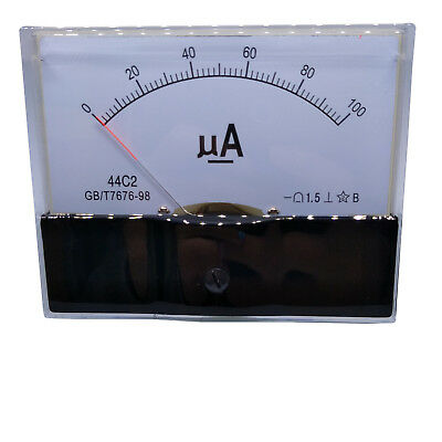 Us Stock Dc 0100ua Class 1.5 Accuracy Analog Amperemeter Panel Meter Gauge 44c2