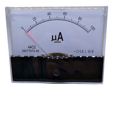 Us Stock Dc 0100ua Class 1.5 Accuracy Analog Amperemeter Panel Meter Gauge 44c2