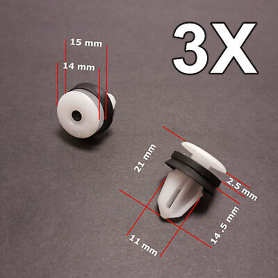 3X Door Card Interior Trim Panel Clips for Land Rover, Range Rover, Freelander