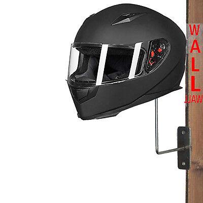 - METAL Wall Mount Motorcycle Helmet Holder Hook Jacket Bags Rack Hanger Display