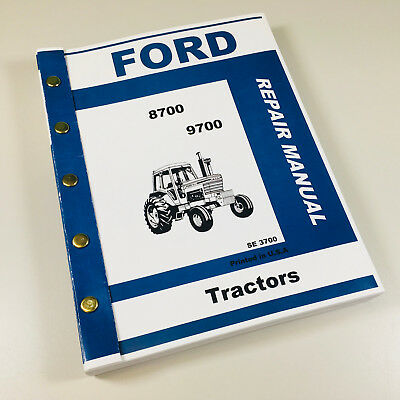 Ford 8700 9700 Tractor Service Repair Manual Technical Repair Shop Book Overhaul