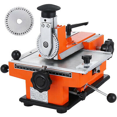 Semi-auto Sheet Embosser Stamping Machine 4mm Metal Marking Machine For Dog Tag