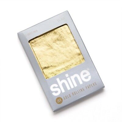 NEW Shine 2 Sheet Pack 24K 24 Karat Gold Rolling Paper Papers Package PACK QUICK (Shine Paper)
