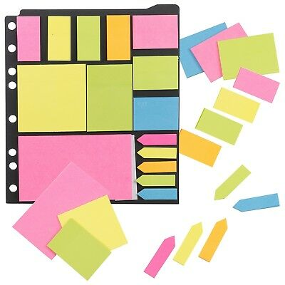 Neon Stick It Sticky Notes Pads Set A4 Ringbinder Memo Page Marker Labels Jotter