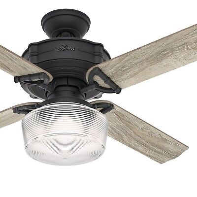 52 inch Traditional Natural Iron Ceiling Fan w/ Light Kit & Remote Control