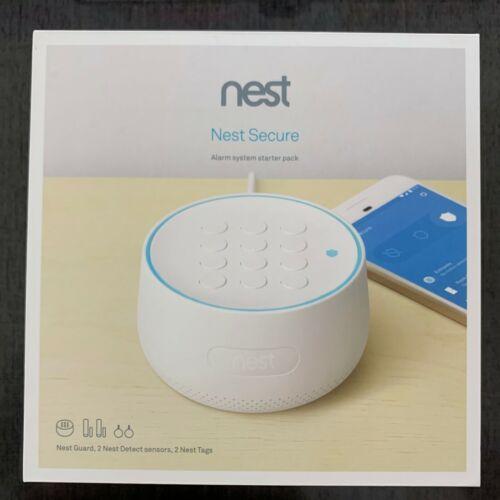 Nest Secure Alarm System Starter Pack White H1500ES Brand New in Box Free Shippi