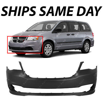 - NEW Primered - Front Bumper Cover Fascia for 2011-2018 Dodge Grand Caravan Van