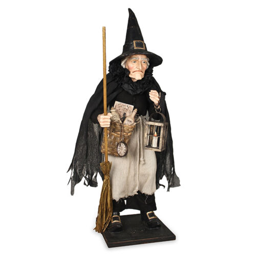 """Bethany Lowe 28"""" Collectible Griselda Witch Doll Figure Vntg Halloween Decor"""