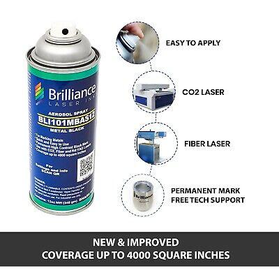 Brilliance Laser Bli101mbas12-metal Marking Spray Can Black-12oz-co2fiberyag
