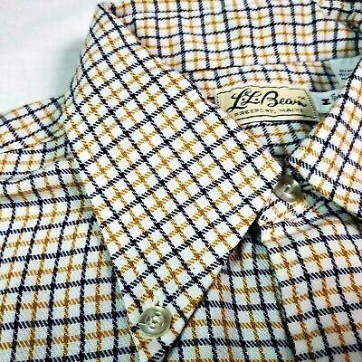 1970s Men's Shirt Styles – Vintage 70s Shirts for Guys Vintage LL Bean Script 1970's Mens Shirt Combed Cotton Medium White Check USA  $22.50 AT vintagedancer.com