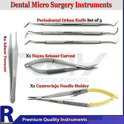 Dental Periodontal Orban Knife Micro Surgery Kit Surgical Needle Forceps Scissor