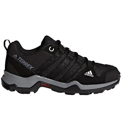 adidas Terrex AX2R Kids Boys Trail Hiking Trainer Shoe Black