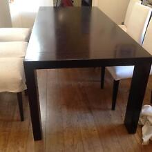 Dining table (6-8 seater) with 6 chairs and matching buffet Curl Curl Manly Area Preview