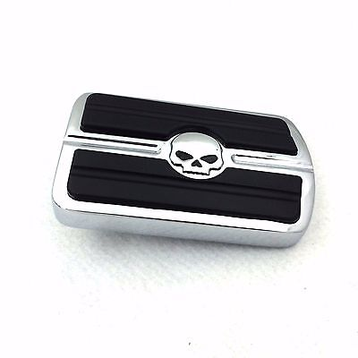For Harley Touring Softail Dyna 1 PC Willie G. Skull Brake Pedal Large Pad