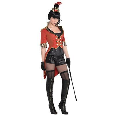 Circus Ringmaster Greatest Showman Burlesque Adult Womens Fancy Dress Costume