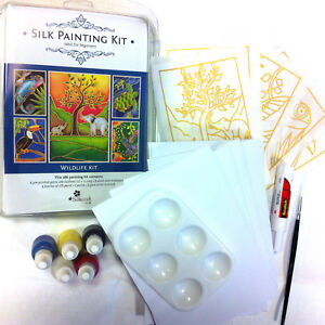 Silk Painting: Cardmaking kit - Wildlife pack- Makes 5 beautiful Cards