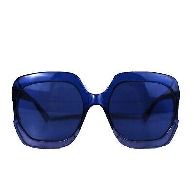 Preowned Chrisitan Dior Womens Blue Lens Oversized Square Sunglasses PJPKU B2