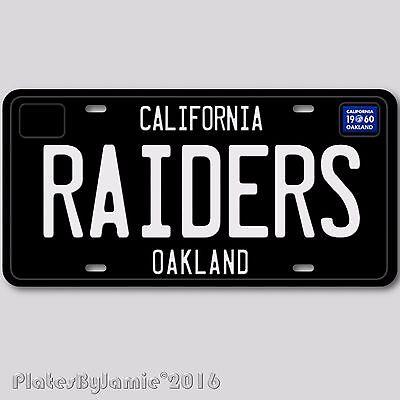 California Oakland RAIDERS NFL Football Team Aluminum Vanity License Plate Tag