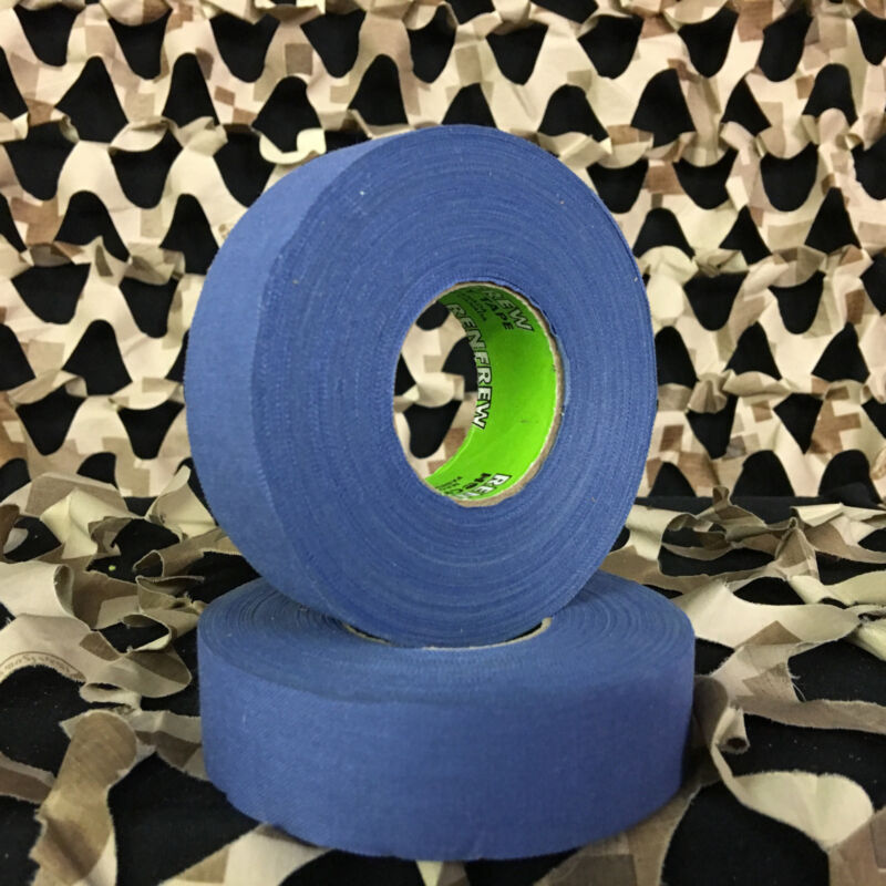 NEW Renfrew Cloth Colored Hockey Tape Paintball Tank Grip - Blue (2 Pack)