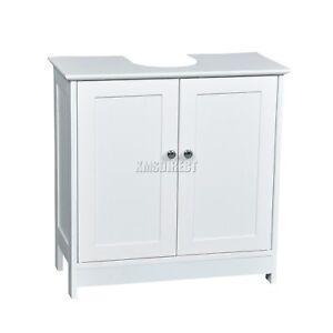 FoxHunter Vanity Unit Wooden Under Sink Wash Basin Bathroom Cabinet Storage New