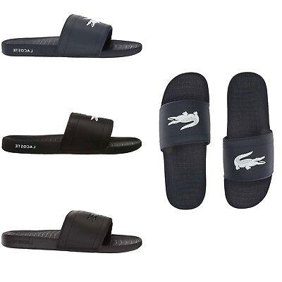 NEW Lacoste Men's Fraisier Slides Summer Slip On Sandals Multi Colors