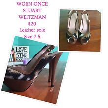 Brown and cream stilettos. Leather sole. Size 7.5 $20 Cronulla Sutherland Area Preview