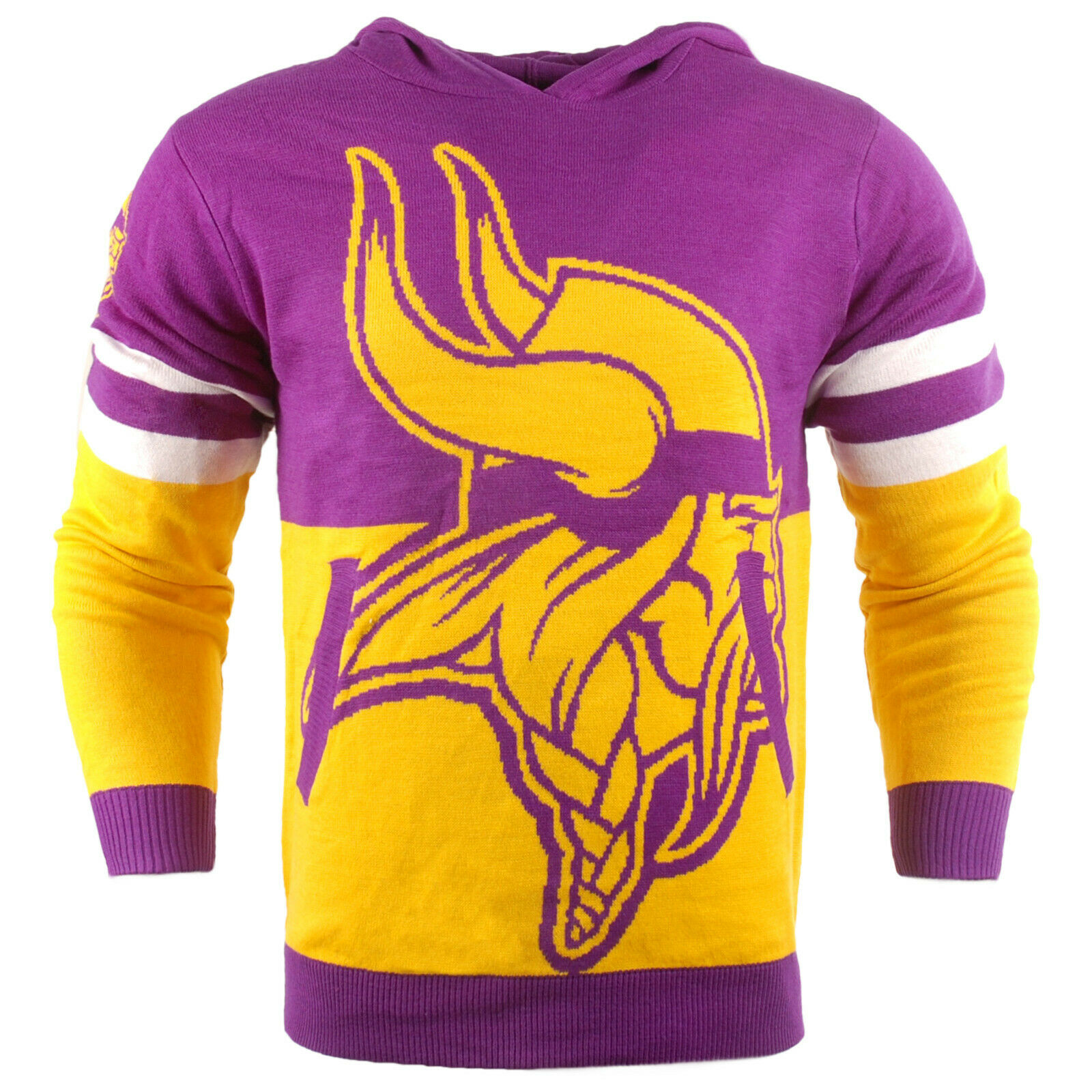NFL Ugly Hoody Minnesota Vikings Sweater Pullover Christmas Style Big Logo
